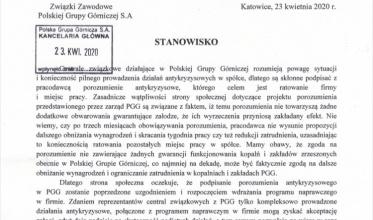 PGG: Porozumienie - tak, ale z gwarancjami